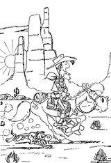 Imprimer le coloriage : Lucky Luke, numéro 16179