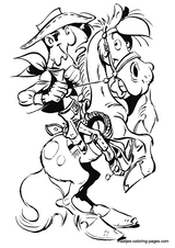 Imprimer le coloriage : Lucky Luke, numéro 453324