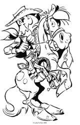 Imprimer le coloriage : Lucky Luke, numéro e8c616e6