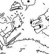 Imprimer le coloriage : Tintin, numéro 12988