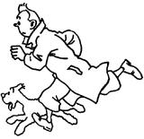 Imprimer le coloriage : Tintin, numéro 13253
