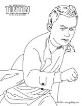 Imprimer le coloriage : Tintin, numéro 13255
