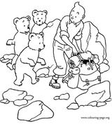 Imprimer le coloriage : Tintin, numéro 147077