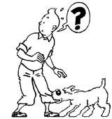 Imprimer le coloriage : Tintin, numéro 8950
