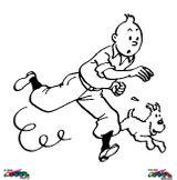 Imprimer le coloriage : Tintin, numéro 8955
