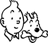 Imprimer le coloriage : Tintin, numéro 8959