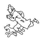 Imprimer le coloriage : Tintin, numéro 8967