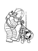 Imprimer le coloriage : Tintin, numéro e8a6e87c