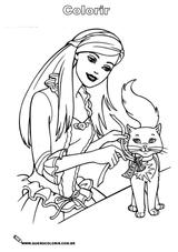 Imprimer le coloriage : Barbie, numéro 16683
