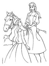 Imprimer le coloriage : Barbie, numéro 3736
