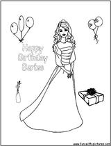 Imprimer le coloriage : Barbie, numéro 4305