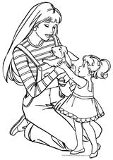 Imprimer le coloriage : Barbie, numéro 47f86e46