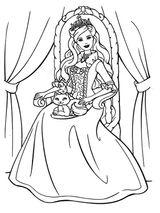 Imprimer le coloriage : Barbie, numéro 5534
