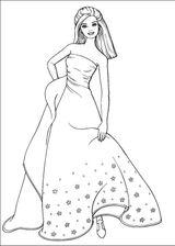 Imprimer le coloriage : Barbie, numéro 7981