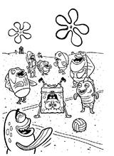 Imprimer le coloriage : Bob l'éponge, numéro 16540