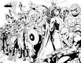 imprimer le coloriage personnages celebres comics avengers numro 398335