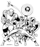 Imprimer le coloriage : Avengers, numéro 398364