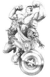 Imprimer le coloriage : Avengers, numéro 618492