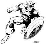 Imprimer le coloriage : Captain America, numéro 146573