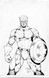 Imprimer le coloriage : Captain America numéro 17597