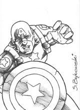 Imprimer le coloriage : Captain America numéro 17600