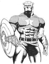 Imprimer le coloriage : Captain America numéro 17603