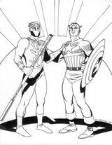 Imprimer le coloriage : Captain America, numéro 17614