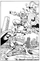 Imprimer le coloriage : Captain America, numéro 17619