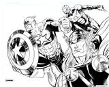 Imprimer le coloriage : Captain America, numéro 1cce0222