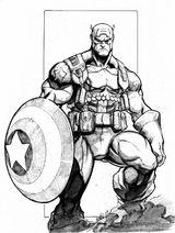 Imprimer le coloriage : Captain America, numéro 212771