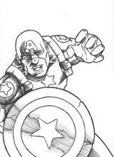 Imprimer le coloriage : Captain America, numéro 24a75d2