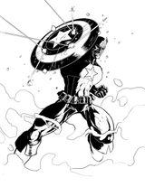 Imprimer le coloriage : Captain America, numéro 27431