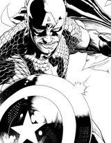 Imprimer le coloriage : Captain America, numéro 27985