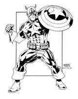 Imprimer le coloriage : Captain America, numéro 294725
