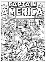 Imprimer le coloriage : Captain America, numéro 4ee14bb4