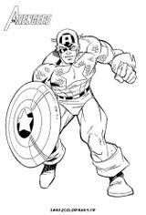 Imprimer le coloriage : Captain America, numéro 54586