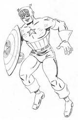 Imprimer le coloriage : Captain America, numéro 561627