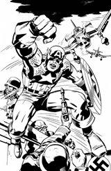 Imprimer le coloriage : Captain America numéro 6609