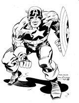 Imprimer le coloriage : Captain America numéro 6610