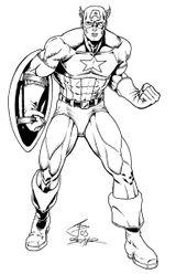 Imprimer le coloriage : Captain America numéro 6612