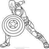Imprimer le coloriage : Captain America, numéro 664fb89d