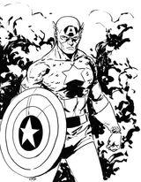 Imprimer le coloriage : Captain America, numéro 7acb4424