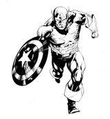 Imprimer le coloriage : Captain America numéro 9186