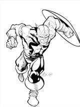 Imprimer le coloriage : Captain America, numéro a3a58b17