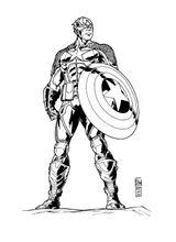 Imprimer le coloriage : Captain America, numéro e6a0203c