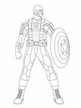 Imprimer le coloriage : Captain America, numéro e9fbc118