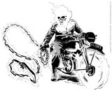 Imprimer le coloriage : Ghost Rider, numéro 163493