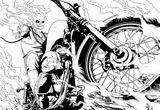 Imprimer le coloriage : Ghost Rider, numéro 62939