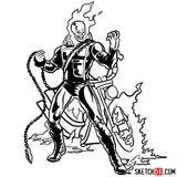 Imprimer le coloriage : Ghost Rider, numéro e8bcbd67