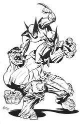 Imprimer le coloriage : Hulk, numéro 17556